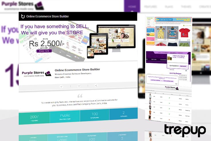 Don't store your stuff, sell it. Get your ecommerce site in lightspeed with Purple Stores. On Trepup! http://trepup.co/1WQXwCc
