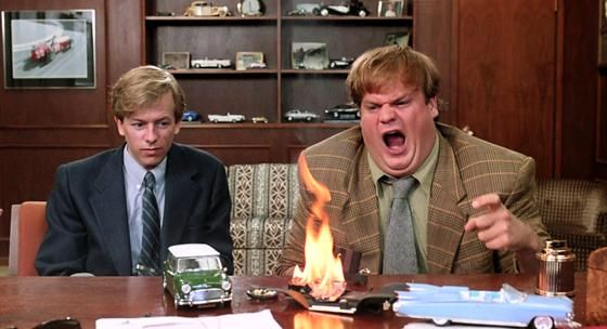 """Tommy Boy – """"Oh...my...God...New guy's in the corner pukin' his guts out"""""""