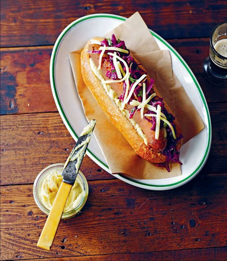 Gourmet hotdogs with braised red cabbage and apple by Rachael Lane from Great Pub Food | Cooked