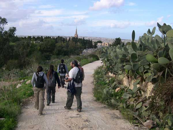 55 We then took this track that brings you to Addolorata cemetery from the back