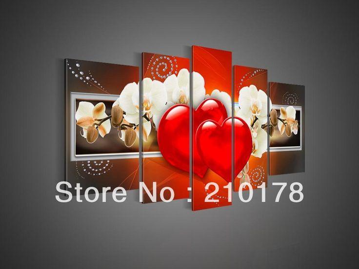 Живопись, ручная роспись маслом стены искусства любви и цветок украшения дома абстрактный Пейзаж маслом на холсте ду-166