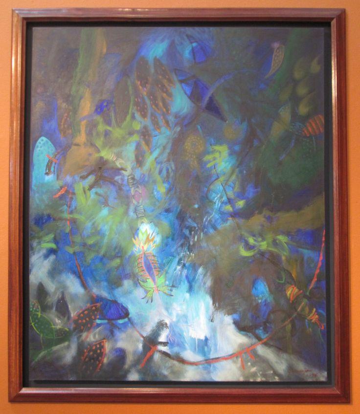 Nacido en el resplandor Óleo sobre lienzo 120 x 100 cms 1995 Colección privada