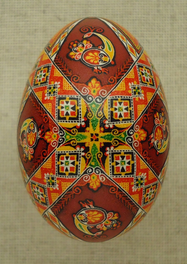 Pysanka Pysanky from Ukraine Goose Easter Egg by Oleh. $58.00, via Etsy.