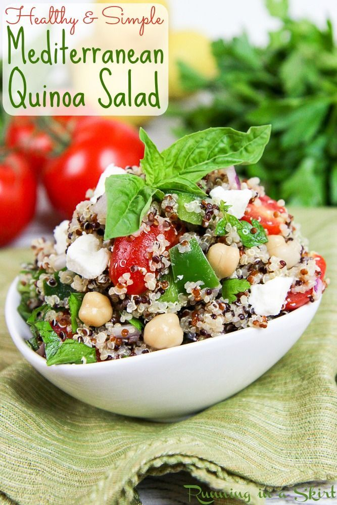 The Best Healthy Mediterranean Quinoa Salad Recipe Packed
