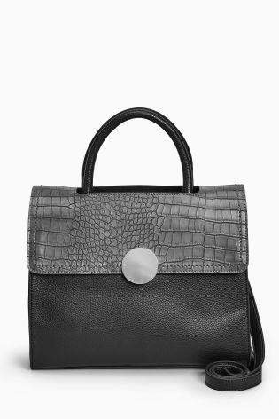Buy Black Circle Detail Tote Bag from Next Slovakia
