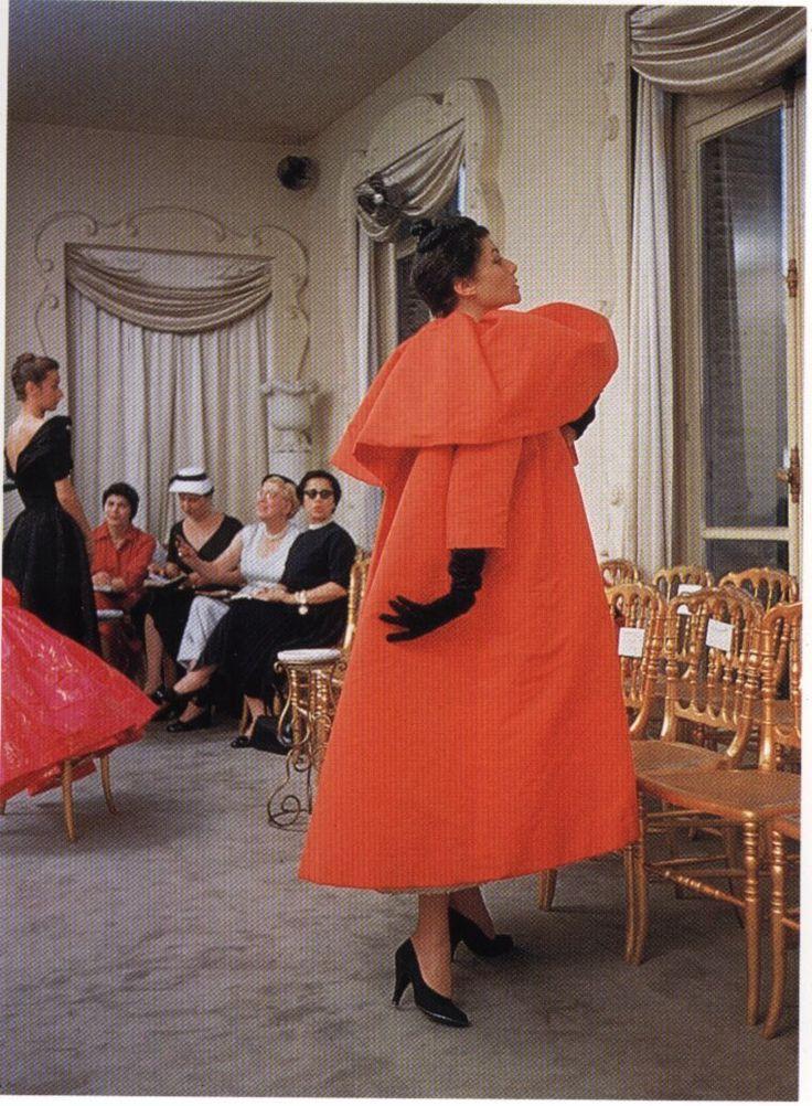 Balenciaga is synonymous with the Opera Coat. Elegant.