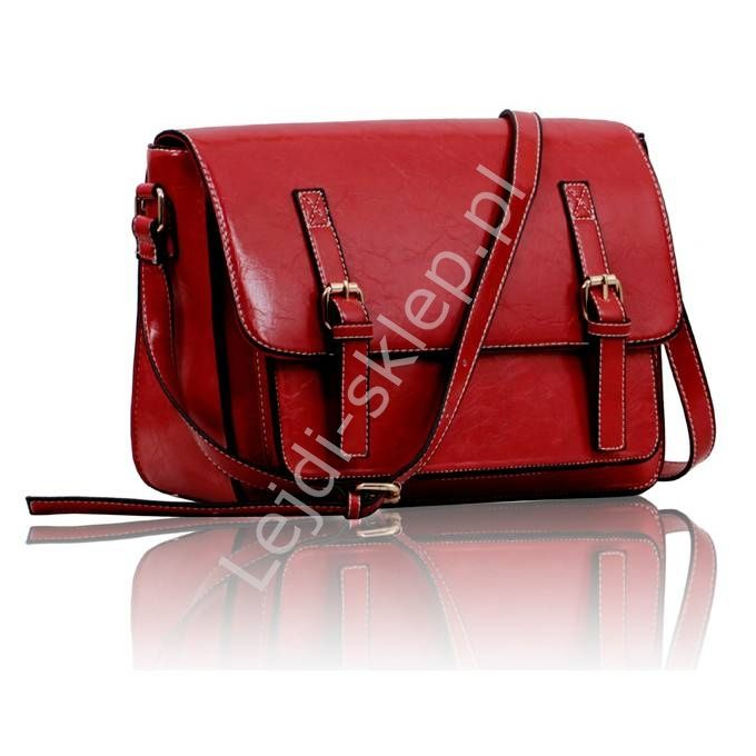 Czerwona listonoszka | czerwone listonoszki damskie, torebki damskie