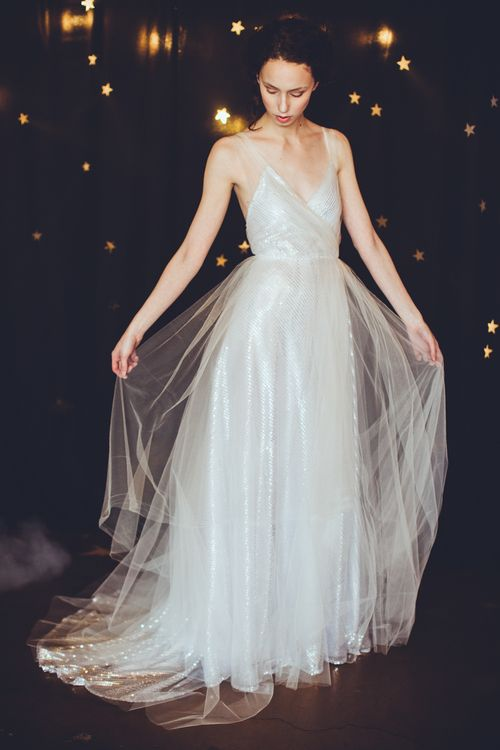 OUMA - Silver Sequin Stargazing Gown