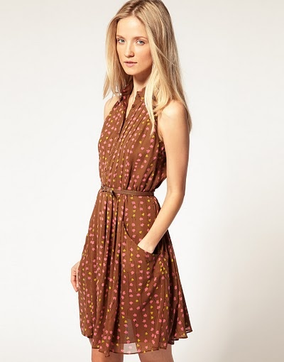 Chic belted dress