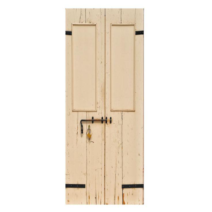 Oude deur beige stickers om een saaie deur op te pimpen. Gedrukt op mat stickermateriaal, ook afwijkende maten mogelijk. GOEDKOOP DE LEUKSTE DEURSTICKERS