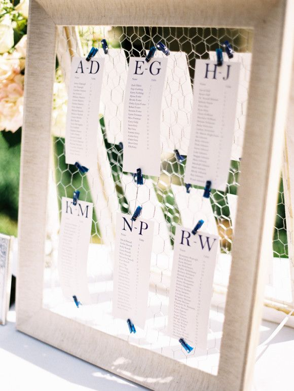 Pastel pink and navy inspired church wedding ~ Cassidy Carson Photography via Wedding Sparrow #table #plan