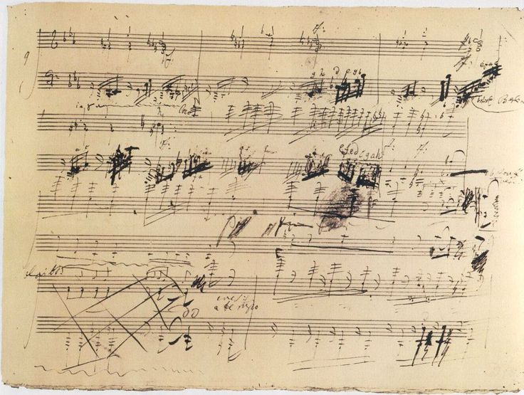 Beethoven's hand-written music notation