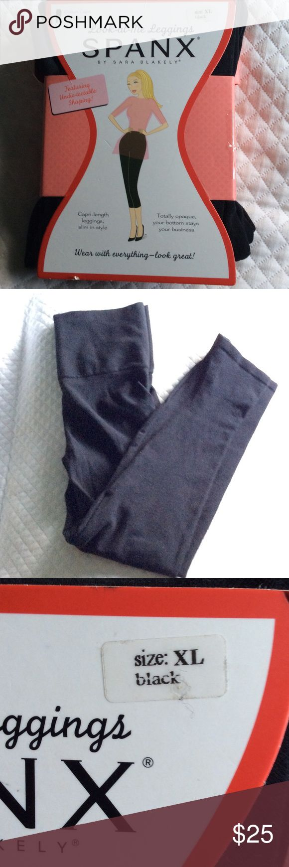 SPANX look at me leggings xl SPANX look at me black leggings. These are my favorite leggings hands down!! You can wear them with anything and are very comfortable, and stylish. Omg and so flattering on any shape. SPANX Pants Leggings