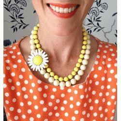 LCA Betty Draper Daisy necklace $49.95