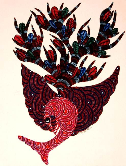 gond tribal painting