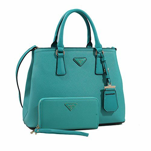 MyLUX Fashion Designer Handbag Purse 81213 TEAL. L 15 * H 11.5 * W 6.5 (9 D) Large handbag + WALLET. NOTE: Due to differences between monitor displays, actual color may vary slightly from image.