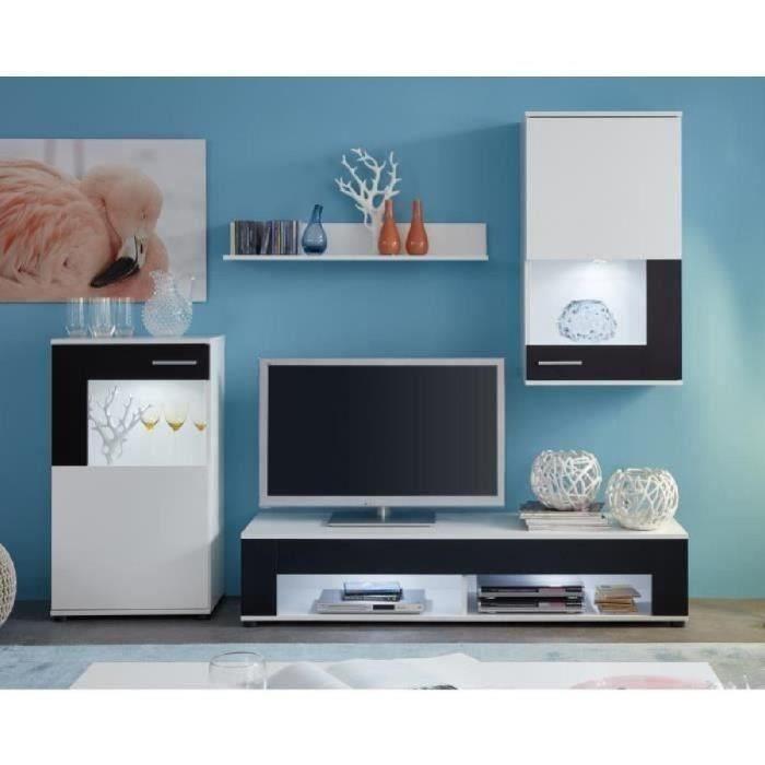 corner meuble tv mural avec eclairage
