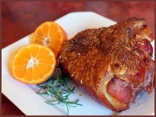 Joelho de porco defumado a pururuca: Não posso dizer se esse joelho de porco pururucado ficou bom...…