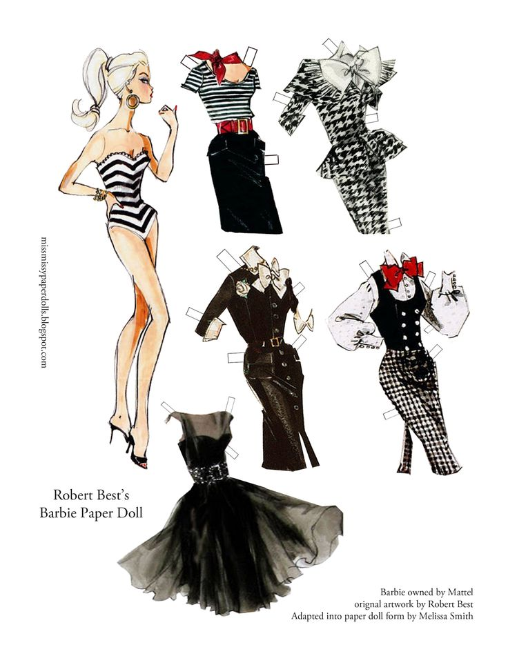 Miss Missy Paper Dolls: Robert Best Barbie Paper Doll