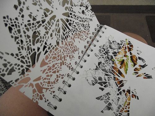 DSCF3681 | Some cut work i've begun in my new sketchbook :) | Robyn Parker | Flickr