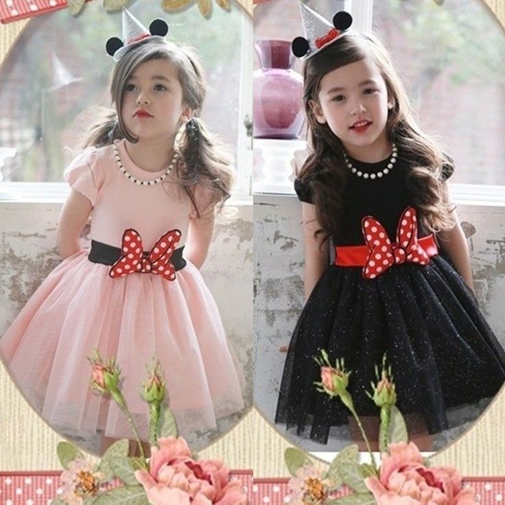 Minnie Mouse Girl Princess Bow Dress Toddler Baby Wedding Party kids Dress #Unbranded