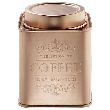 Copper Coffee Canister - from Lakeland