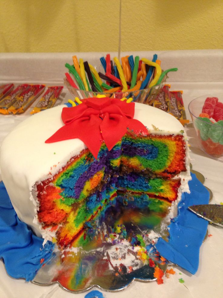 Rainbow Cake Differents Chocolat
