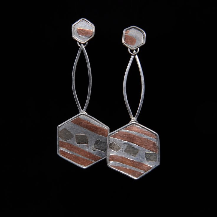 Aros de plata, cobre y alpaca | Joyas hechas a mano/ Hand made jewelry | www.facebook.com/DeDiosas