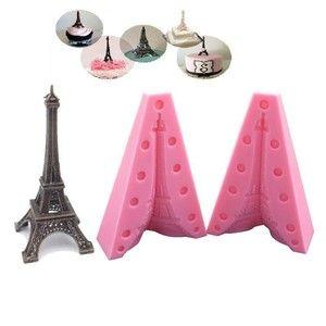 Molde De Silicone para Confeitar Decorar Bolo Torre Eiffel