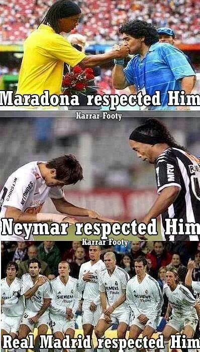 Ronaldinho y el respeto de todos...