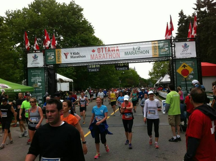 How can you not be impressed by all the people at the finishing line? 44,000 participants and hundreds of thousands of Ottawans coming together - amazing! Thanks for a great 2013 Tamarack Ottawa Race Weekend!