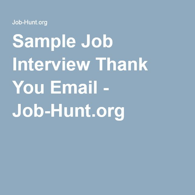 The  Best Interview Thank You Email Ideas On