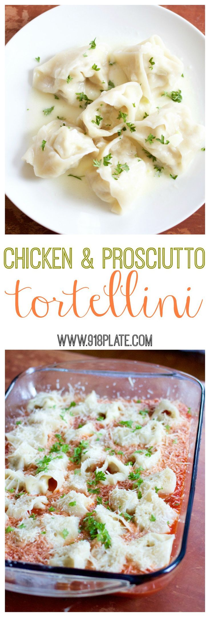 This hand-wrapped chicken and prosciutto tortellini recipe is mild, and goes with white or red sauce!
