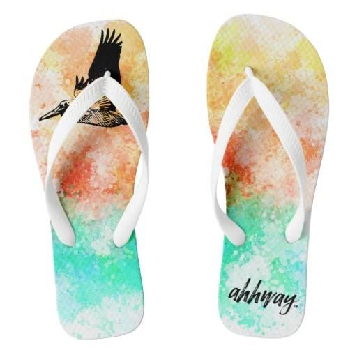 (Ahhway. Pelican Flip Flops) #Animal #Beach #Beautiful #Bird #Cabin #Camping #Chill #Cottage #Fun #Getaway #LakeHouse #Lake #Ocean #Outdoor #Relax #Relaxing #Sea #Sun #Sunset #Tranquil #Travel #Trip #Water #Watercolor is available on Funny T-shirts Clothing Store   http://ift.tt/2cS65vG
