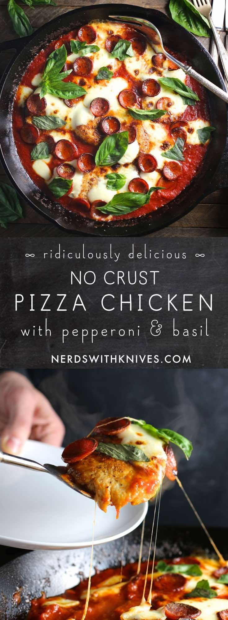 Pizza Chicken (With Pepperoni And Basil)