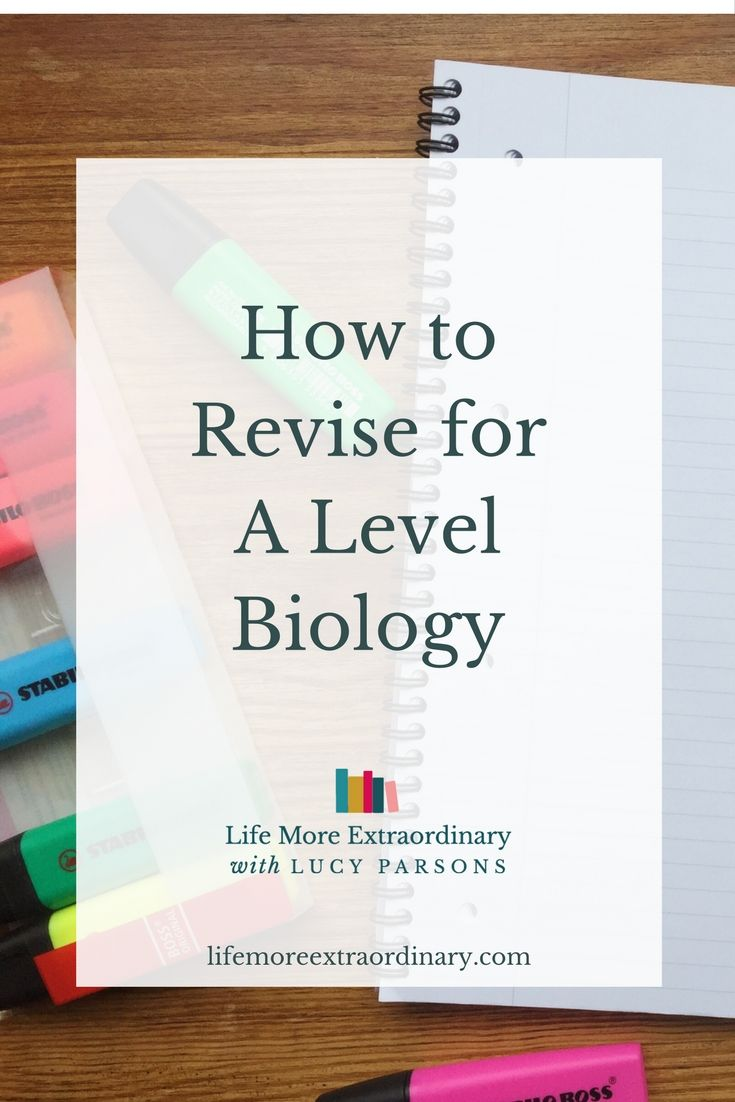 Are you taking biology A level? As part of my series of revision posts, I'm sharing with you how to revise for A Level biology. via @Lucy Parsons #revision #biology #alevel