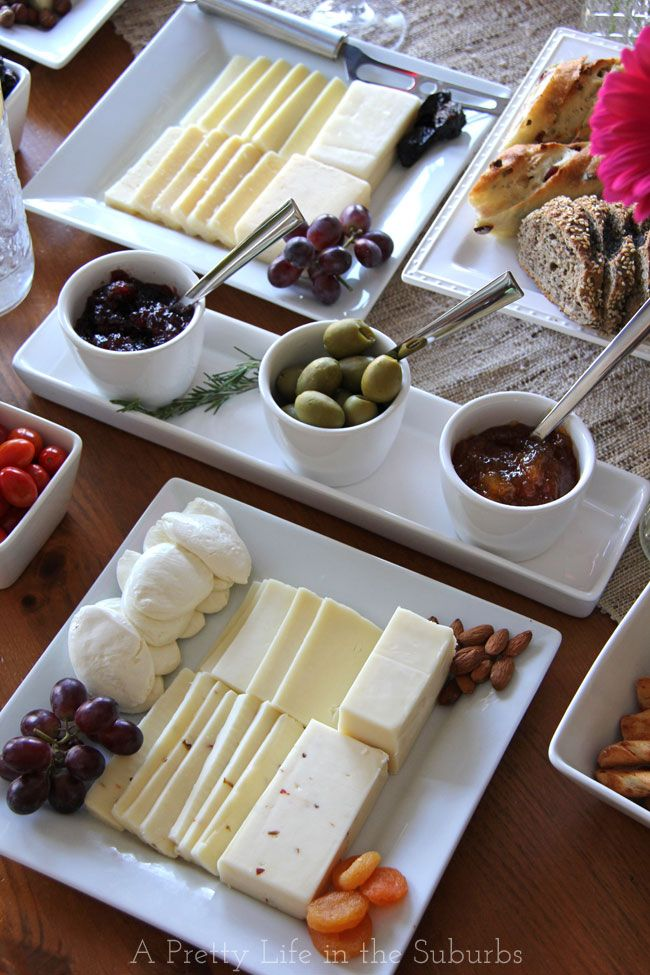 Throwing a Wine and Cheese Party!  Tips for putting together cheese plates for your next get together.