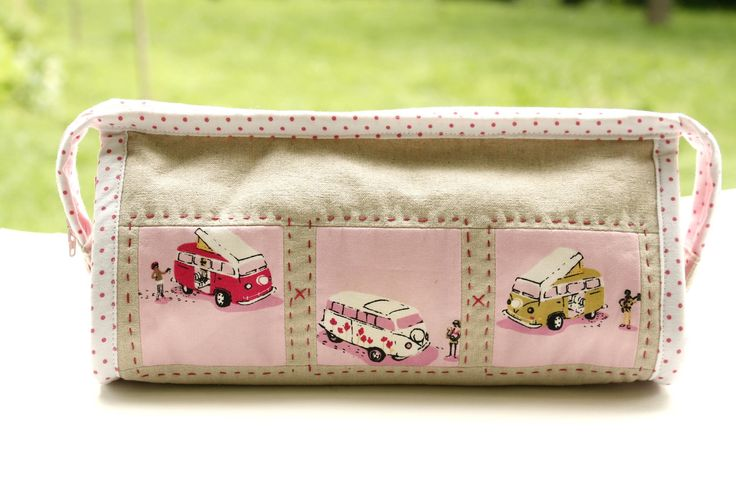 Why Not Sew?: :: Pink Heather Ross Sew Together Bag ::