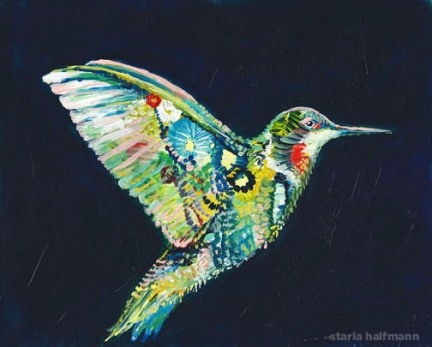 For a chance to win a print of this beautiful hummingbird, go to Starla Michelle Fine Art Facebook's page for a chance to win!