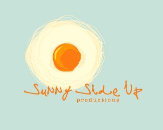 sunny side up productions logo  #egg #sun #logo
