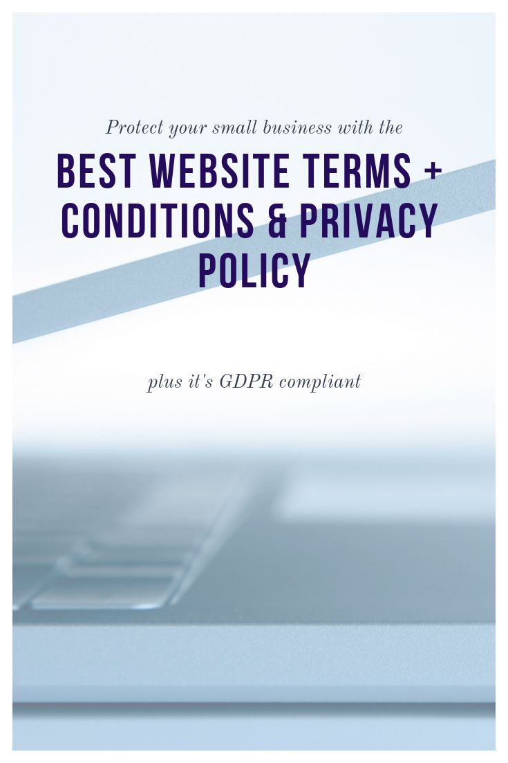 Terms Conditions Privacy Policy For Your Website Gdpr Ccpa Compliant Email Marketing Inspiration Email Marketing Template Small Business Tips