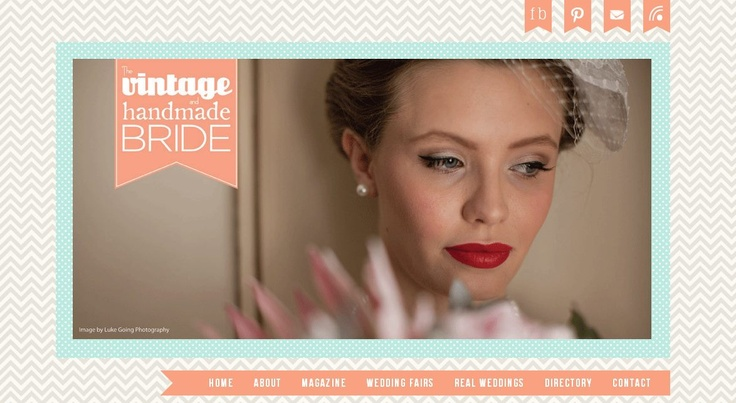 Our makeup on The Vintage and Handmade Bride Site