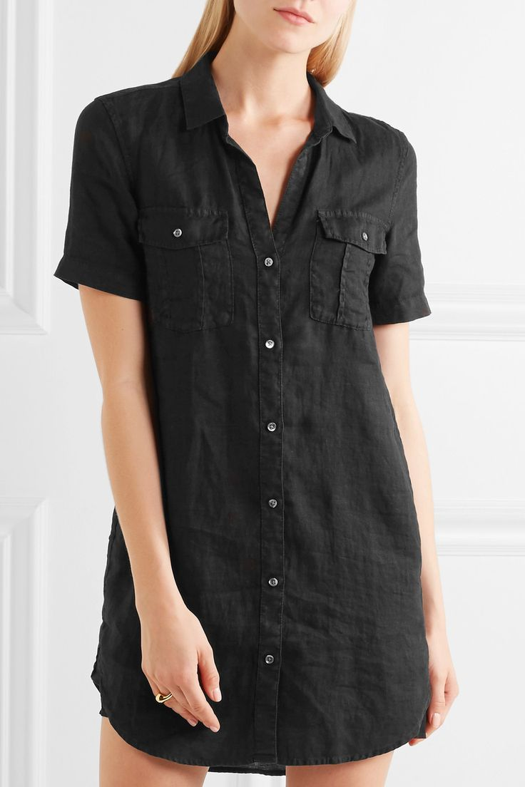 James Perse | Utility linen shirt dress | NET-A-PORTER.COM