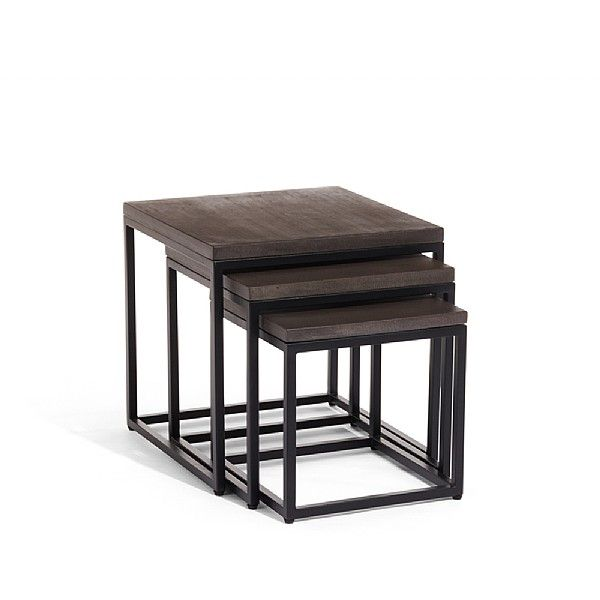 Arianne Graphite Nesting Side Tables £295