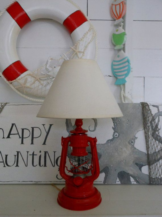 Vintage Nautical Lantern Lamp Lamp Shade Nautical Decor