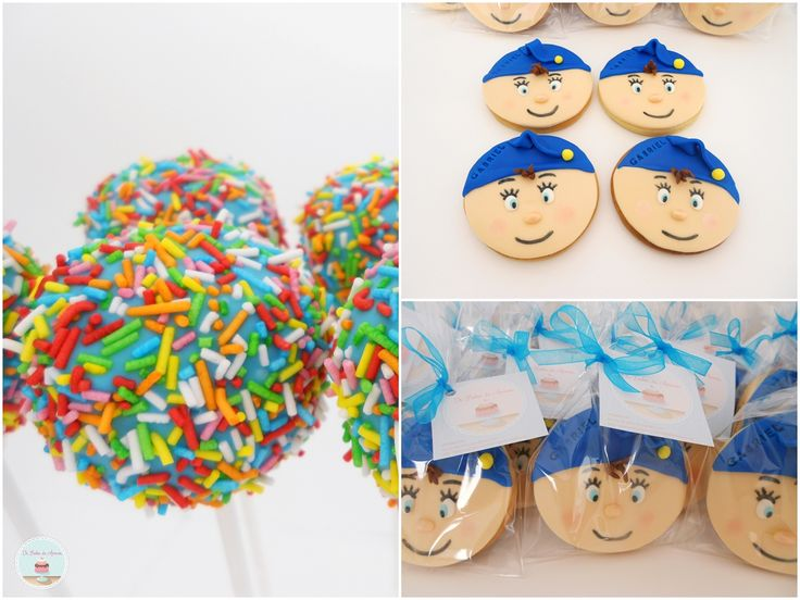 Noddy cookies and cake pops