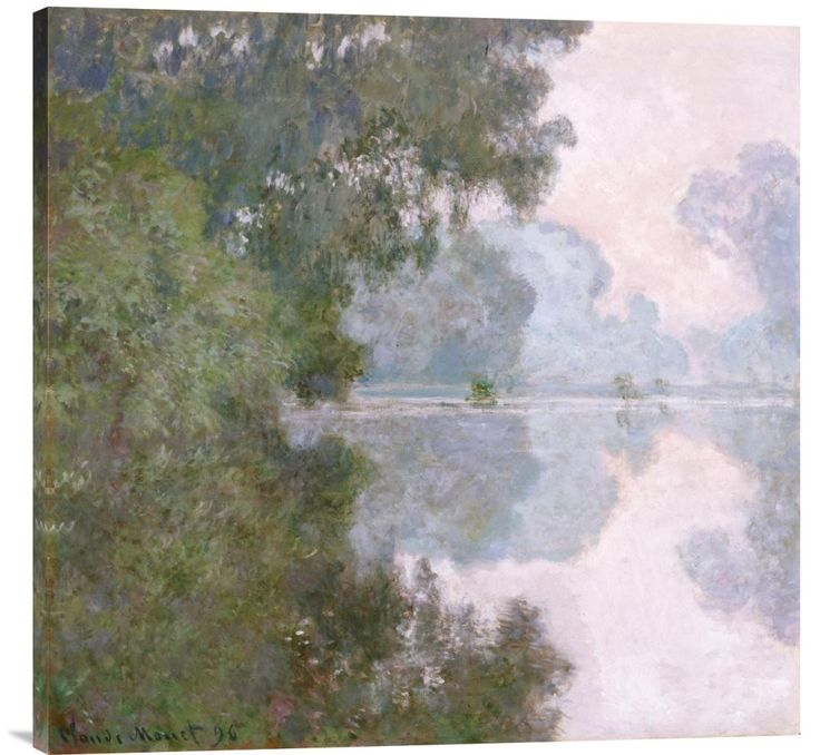 buy Feng Shui wall art painting Morning on the Seine, Near Giverny