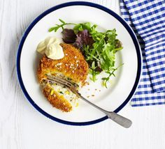 Low glycemic index Raid-the-cupboard tuna sweetcorn cakes - use sweet potato for lower GI