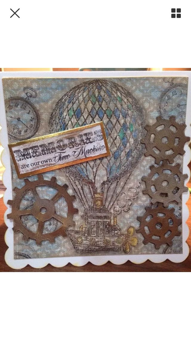 Sheena Douglass Time traveller collection. Handmade card by myself