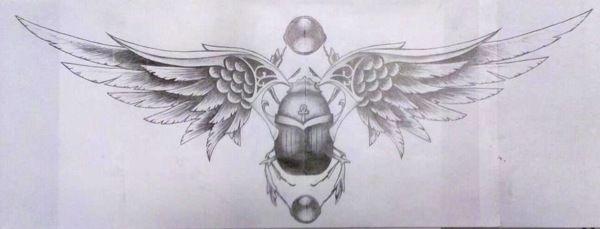 Scarab/wings tattoo design on Behance